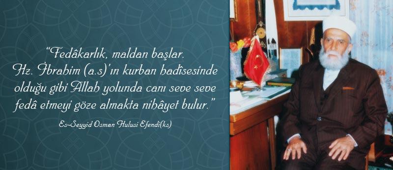 kurban fedakarlik osman hulusi efendi