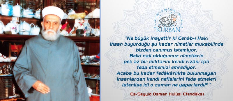 osman hulusi efendi hutbe kurban ibadeti