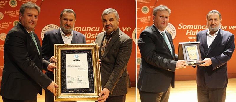Kayseri Belediye Başkanı Talas Belediye Başkanı Mustafa Palancıoğlu'nde Hamid Hamidettin Ateş Efendi'ye açılış beratı