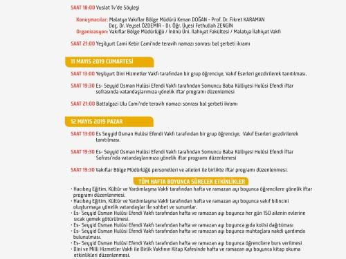 malatya vakıflar bölge müdürlüğü vakıf haftası etkinlikleri davetiye
