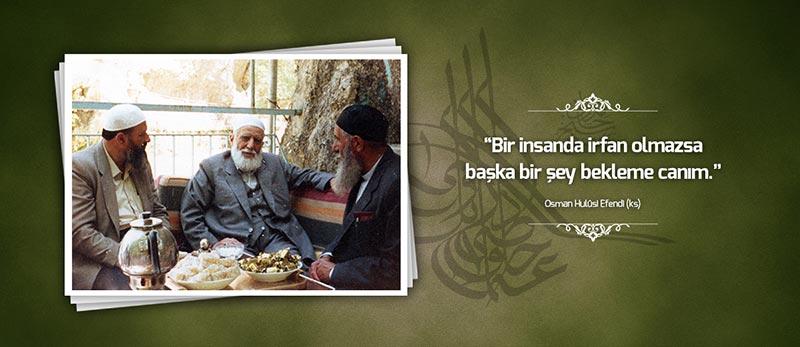 osman hulusi efendi sozleri sohbetleri